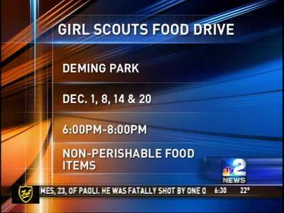 News video: Girl Scouts Food Drive 11-26-14